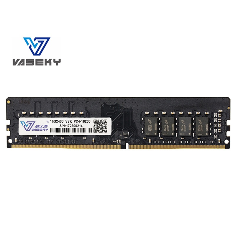 Vaseky 4GB 8GB <font><b>16GB</b></font> <font><b>DDR4</b></font> PC4-17000 2133/2400MHz For Desktop PC DIMM Memory RAM 288 pins Fully compatible System High radiator image