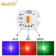 RGB светодиодный COB чип лампа 30 Вт 220 В 110 В Smart IC без драйвера для Светодиодный прожектор DIY наружное украшение красный зеленый синий чередование лампы