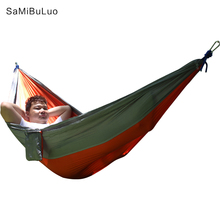 Hammock for Camping Single Double Hammocks For Outdoors Backpacking Travel Portable Lightweight Parachute Nylon Many Colors 2 to 3 persons 290 140cm tree hammocks camping indoor outdoor portable parachute hammocks for backpacking survival travel