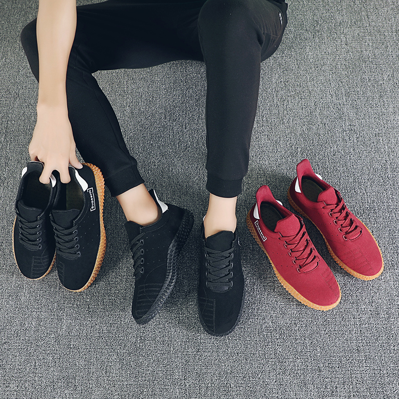 Man Vulcanized Shoes Red Shoes Anti Sneakers Leisure Sapato Masculino Personality Footwear Lightweight Loafers Men's Vulcanize Shoes
