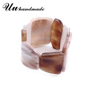 c72c668c55a0 Moda acrílico amplia brazaletes brazalete para las mujeres Retro joyería pulseras  brazalete de las mujeres Bijoux Femme Joyas Pulseiras Joyas