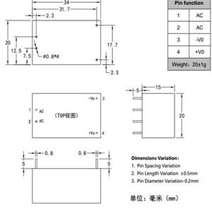 Image 5 - Free shipping new Hi Link ac dc 5v 3w  power module HLK PM01