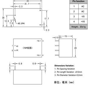 Image 5 - Módulo de alimentação hi link, módulo de energia ac dc 5v 3w com frete grátis HLK PM01