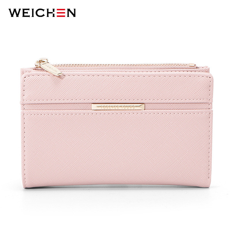 WEICHEN New Women Wallet Card Holder Zipper Coin Purse Many Departments Female Wallets High Quality Ladies Pueses