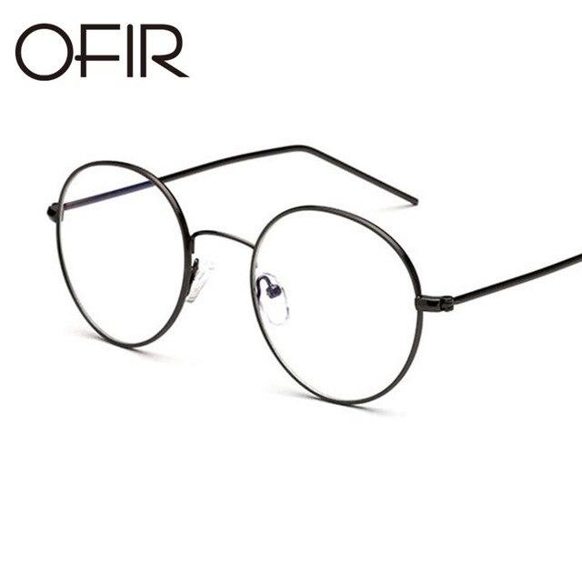 e923751ffd376 OFIR 2017 Men Vintage Round Titanium Glasses Frames Men s Brand Designer  Fashion Metal Glasses Full Optical
