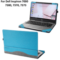 New Laptop Case For DELL Inspiron 7000 7370 7373 7380 Sleeve PU Leather Protective Cover for Inspiron 13.3 7000 + Keyboard film