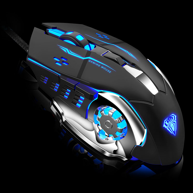 Image 3 - AULA Professional Macro Game Mouse Pro LED Wired Gaming Mouse for Pc Computer Laptop Mice Adjustable 3200 DPI Silent Mause Gamer-in Mice from Computer & Office