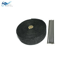 5 m 2 inch  Black Exhaust Wrap Motorcycle Muffler Pipe Header Heat Resistant Wrap Exhaust Tape
