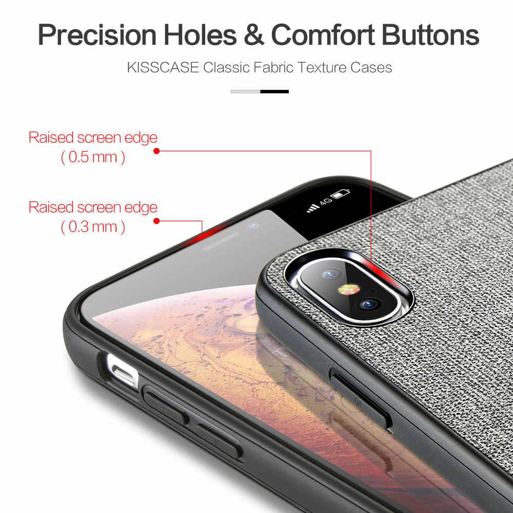 Kisscase tecido caso de couro do plutônio para huawei companheiro 20 lite p20 p30 pro p inteligente mais retro caso telefone para honra 10 lite 8x capas