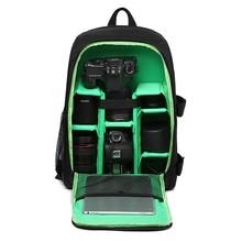 Upgrade Waterproof Digital DSLR Photo Padded Backpack w/ Rain Cover Laptop 15.6″ Multi-functional Camera Soft Bag Video Case