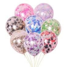 5 шт./лот золотые блестки воздушные шары конфетти Прозрачные Шары с днем рождения ребенка мультфильм шляпа Свадебная вечеринка украшения