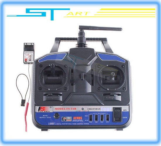 2pcs FS-CT4B Flysky Remote Control RC Helicopter Airplane FS 2.4G 4CH FS-CT4B ct4b Radio RC Transmitter&Receiver Free Shipping