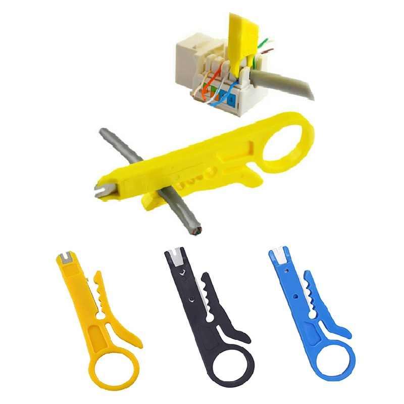 Urijk 9cm Mini przenośny szczypce do zdejmowania izolacji nóż szczypce do zaciskania wielofunkcyjne narzędzie do zaciskania ściąganie izolacji z kabla przecinak do drutu 3 kolory