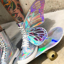 Butterfly Sneakers Lace up Platform Shoes PU27