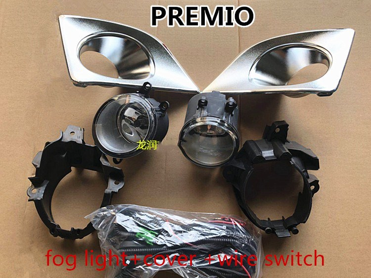 Qirun  fog lamp cover frame base shell+fog light,and Wiring harness switch for Toyota PREMIO 2005-2018Qirun  fog lamp cover frame base shell+fog light,and Wiring harness switch for Toyota PREMIO 2005-2018