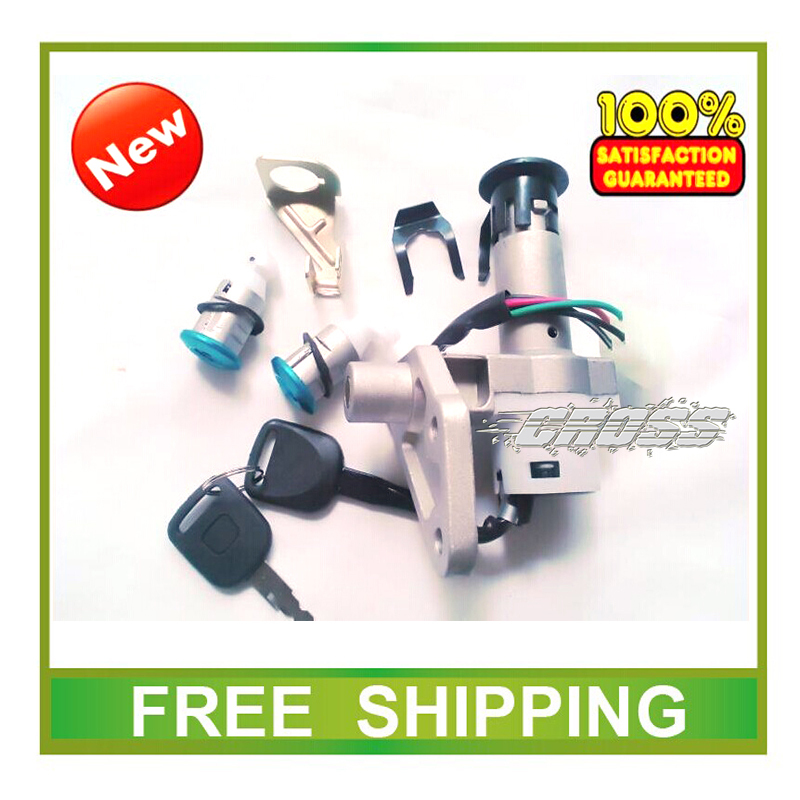 GY6-150 ignition key switch lock key seat lock rear box lock key R5 R9 gy6 scooter 125cc 150cc accessories free shipping