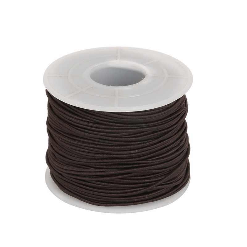 Эластичный стрейч нейлон веревка из бисера нити для браслет ювелирные изделия и ремесленничество аксессуары Dia. 0,8 мм 1,2 мм 1,5 мм