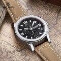 2016 Mens Relógios Top Marca de Luxo Relógio Cronógrafo À Prova D' Água Homem De Couro Do Esporte de Quartzo Relógio de Pulso Masculino Relógio orologio uomo