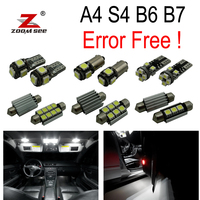 20pc X 100% Error Free LED bulb interior dome map reading light Kit Package for Audi A4 S4 RS4 B6 B7 (2002 2008)