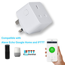 2PC Smart UK Plug Wifi Outlet Compatible for Alexa Echo Google Home with Timer Function AU