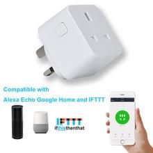 2 шт. Smart Великобритании Plug Wi-Fi Outlet совместимый для Alexa эхо Google дома с таймером Функция AU.22