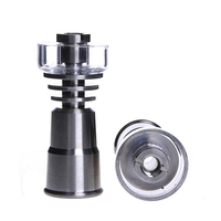 Smoking Dogo Titanium Nails Gr2 Titanium Nail Universal Female 14mm 18mm With Quartz Bowl