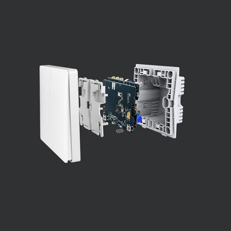 Xiaomi Aqara interruptor de luz inteligente Control ZiGBee wifi interruptor de pared inalámbrico a través de Smartphone remoto hogar inteligente trabajo con mijia App - 4