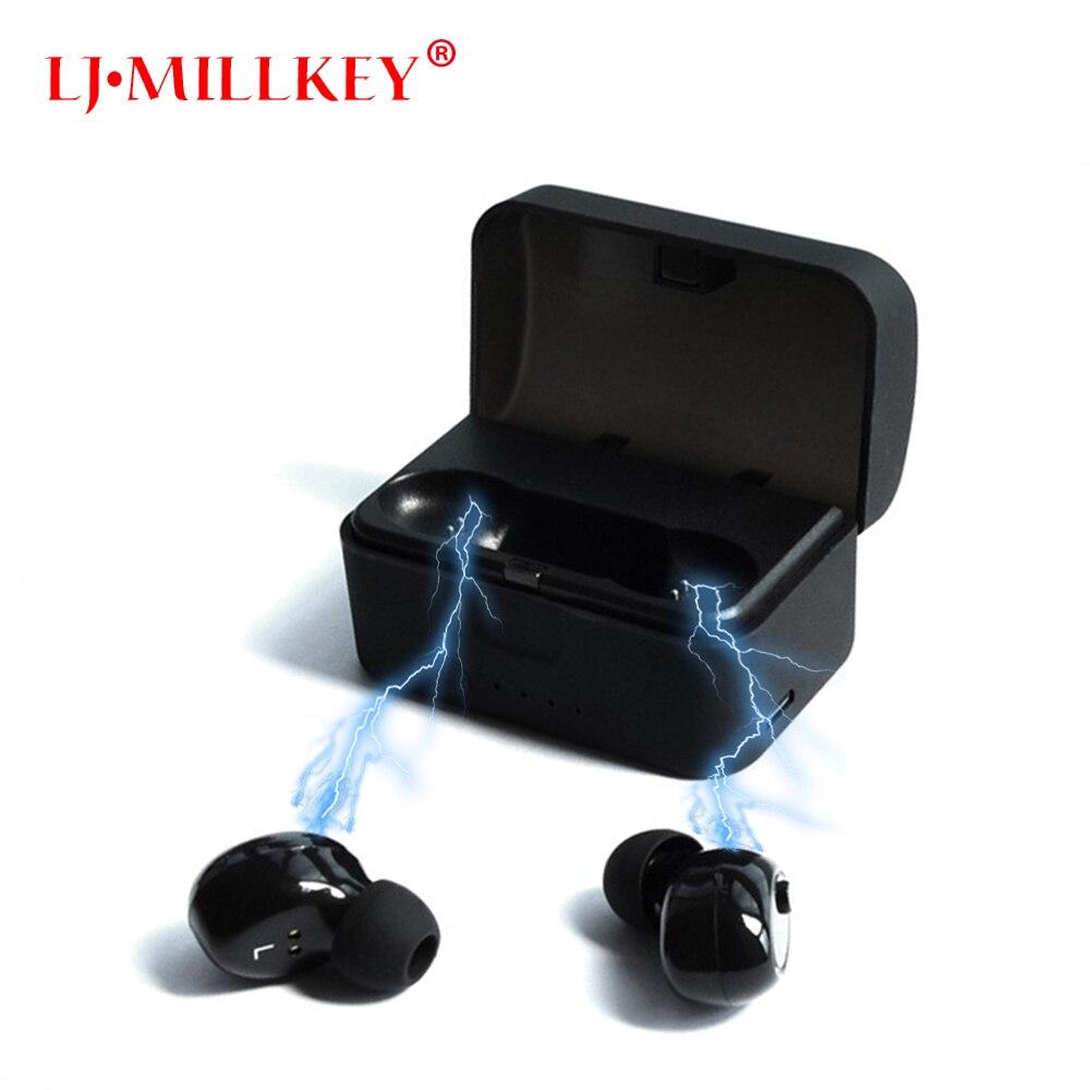 Newest Twins True Wireless Earbuds Mini Bluetooth In-Ear Stereo TWS Wireless Earphones With Charging Case LJ-MILLKEY YZ139