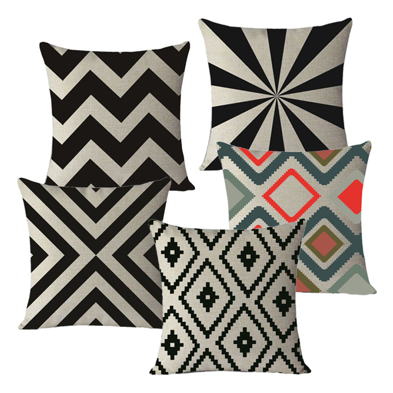 New Quatrefoil Cushions Scandinavian Geometric Cushion Cotton Pillow for Sofa Home Decoration Cushion 45x45cm no filling MYJ-C1