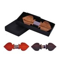 Good Wood Poker Card Heart Bow Tie For Gentleman Men Classic Wooden Bowties Neckwear Creative 3D