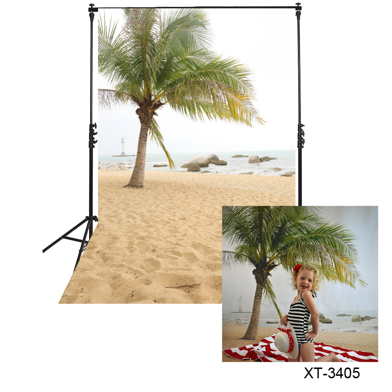 SZZWY 10x8ft Beach Palm Background Tropical Island Photography Backdrop Ocean Seaside Trees Blue Sky Sea Vacation Summer Holiday Trip Kid Adult Artistic Portrait Photo Studio Props Vinyl Wallpaper