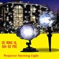 Светодиодная мини Рождественская наружная лужайка Лазерная сценическая планка прожекторная лампа снежный свет