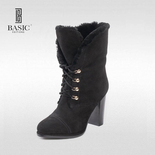 Fashion Basic Med Heel Ankel Boots For Women