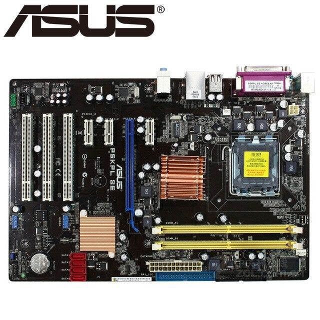 Livraison gratuite origine carte mère pour ASUS P5KPL SE DDR2 LGA 775 USB2.0 4 GB G31 De Bureau carte mère