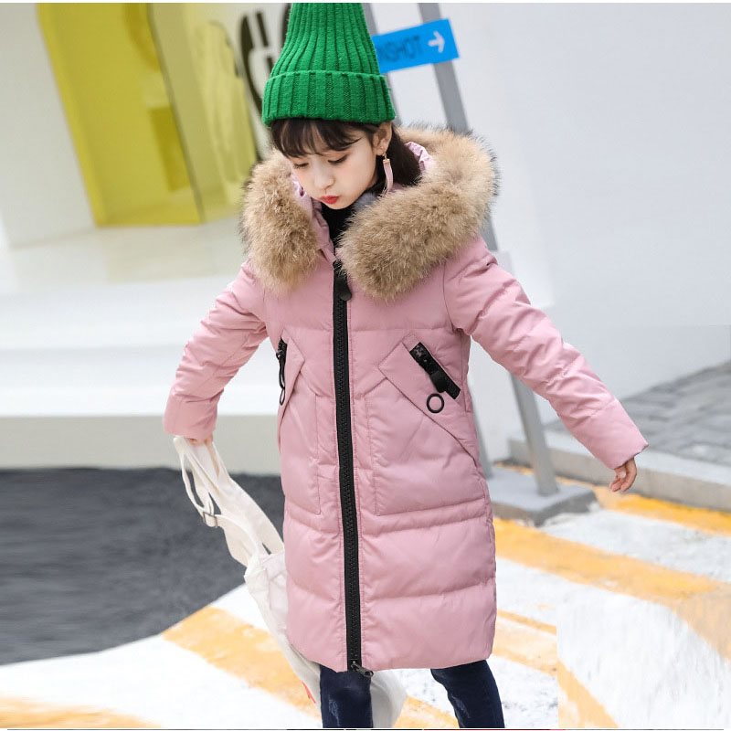 f0e82cb71 hooded warm winter jacket for girl 2018 new thick little big girls ...