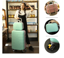 journey suitcase units 13+26 inch baggage, spinner rolling baggage, ladies boarding baggage, suitcase with lock