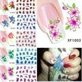 60 Hojas Nail Art Flower Tranfer Agua Nails Belleza Wraps Foil Polaco Tatuajes Tatuajes Temporales Watermark XF1001-1060