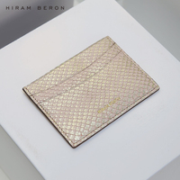 Hiram Beron Card Holder Python skin credit card protector wallet women gift for holiday real leather dropship