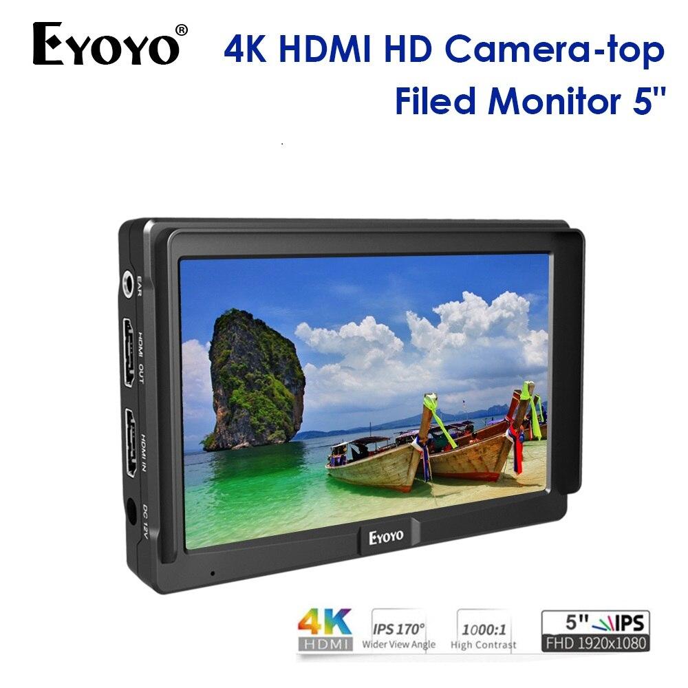 Eyoyo E5 5 Inch 5 inch DSLR On Camera Field Monitor Small Full HD 1920x1080 Video Camera Monitor EYOYO