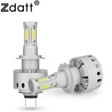 Zdatt Car Light H11 H8 H9 9006 HB4 Led Bulb 90W 12000Lm H4 9005 HB3 H7 12V 24V COB Headlight Auto Headlamp 6500K