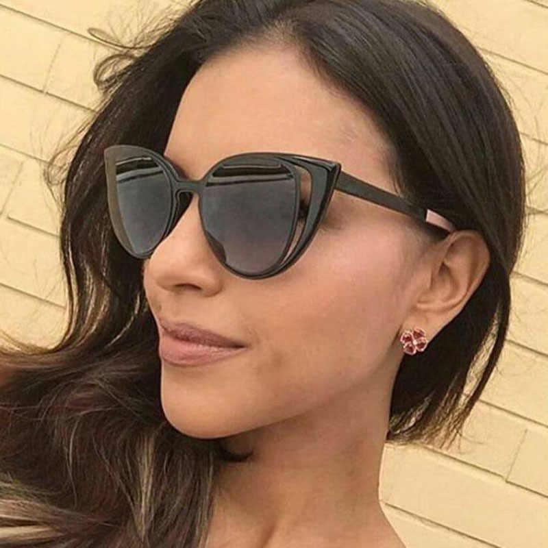1b427d36cc8 Feishini Luxury Polaroid UV400 Sun Glasses Cat Eye Elegant Checked Sexy  Advanced Gradient Sunglasses Women Polarized