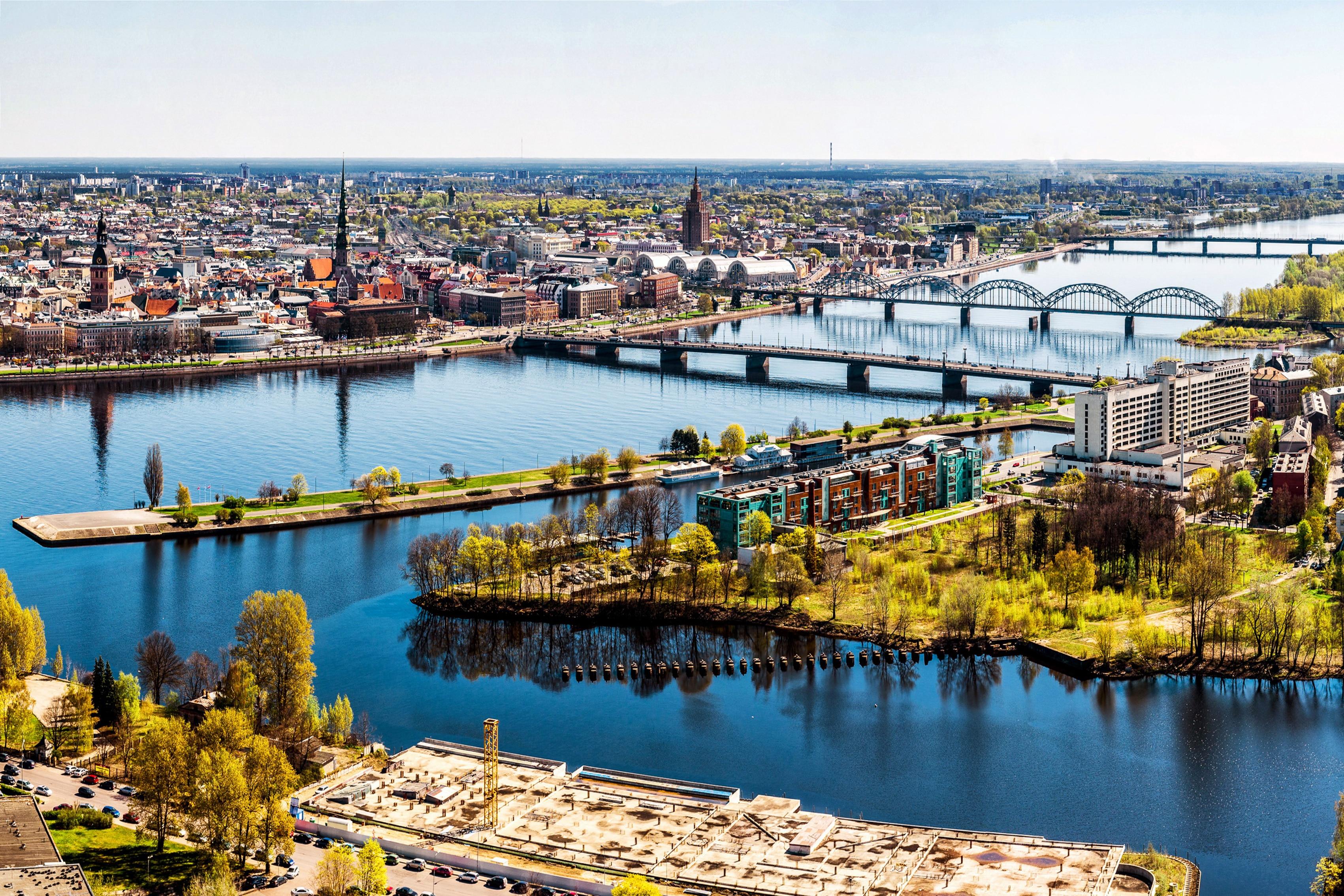 Home decoration bridges Riga Latvia home panorama river