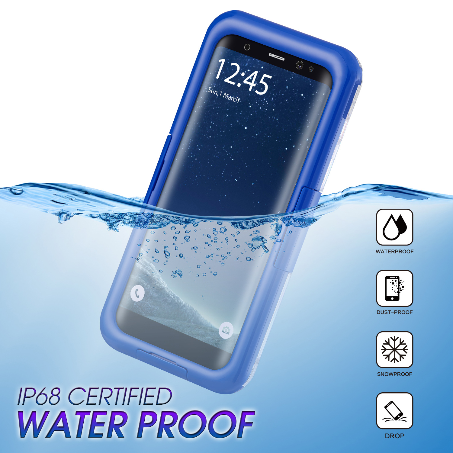 Waterproof case for samsung galaxy s9 s8 plus cases dive phone cover for samsung note8 - Samsung dive app ...