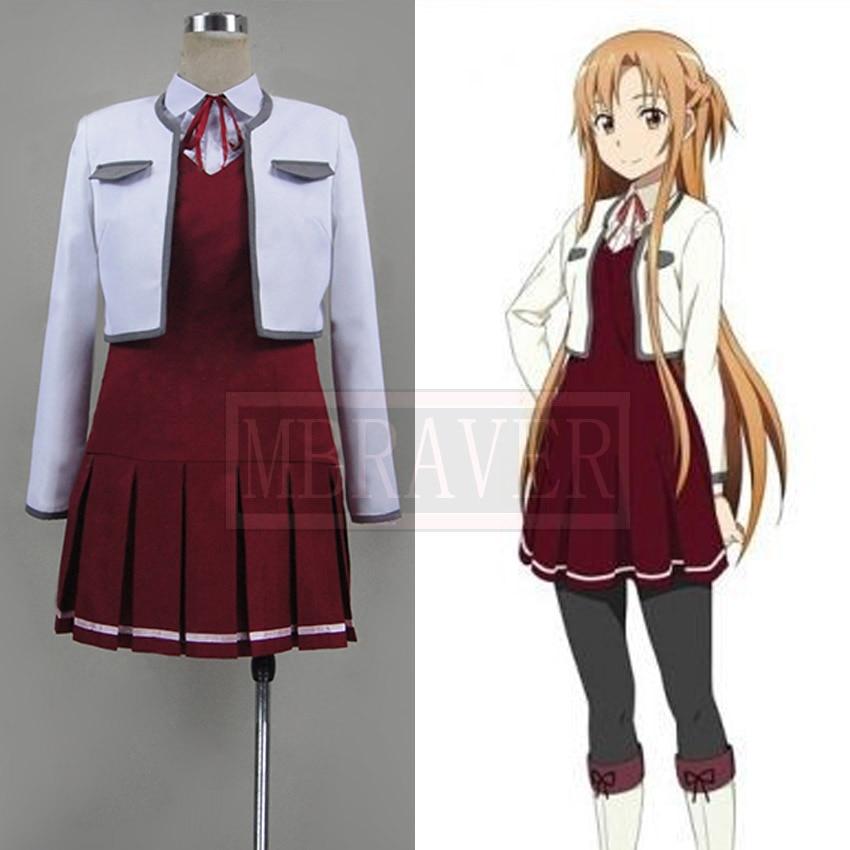 US $83 0 |Sword Art Online Hollow Fragment Yuuki Asuna Casual Clothings  Cosplay Costume on Aliexpress com | Alibaba Group