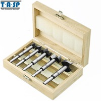 Free Shipping 5PC Forstner Auger Drill Bits Set Woodworking Hole Saw Wooden Wood Cutter
