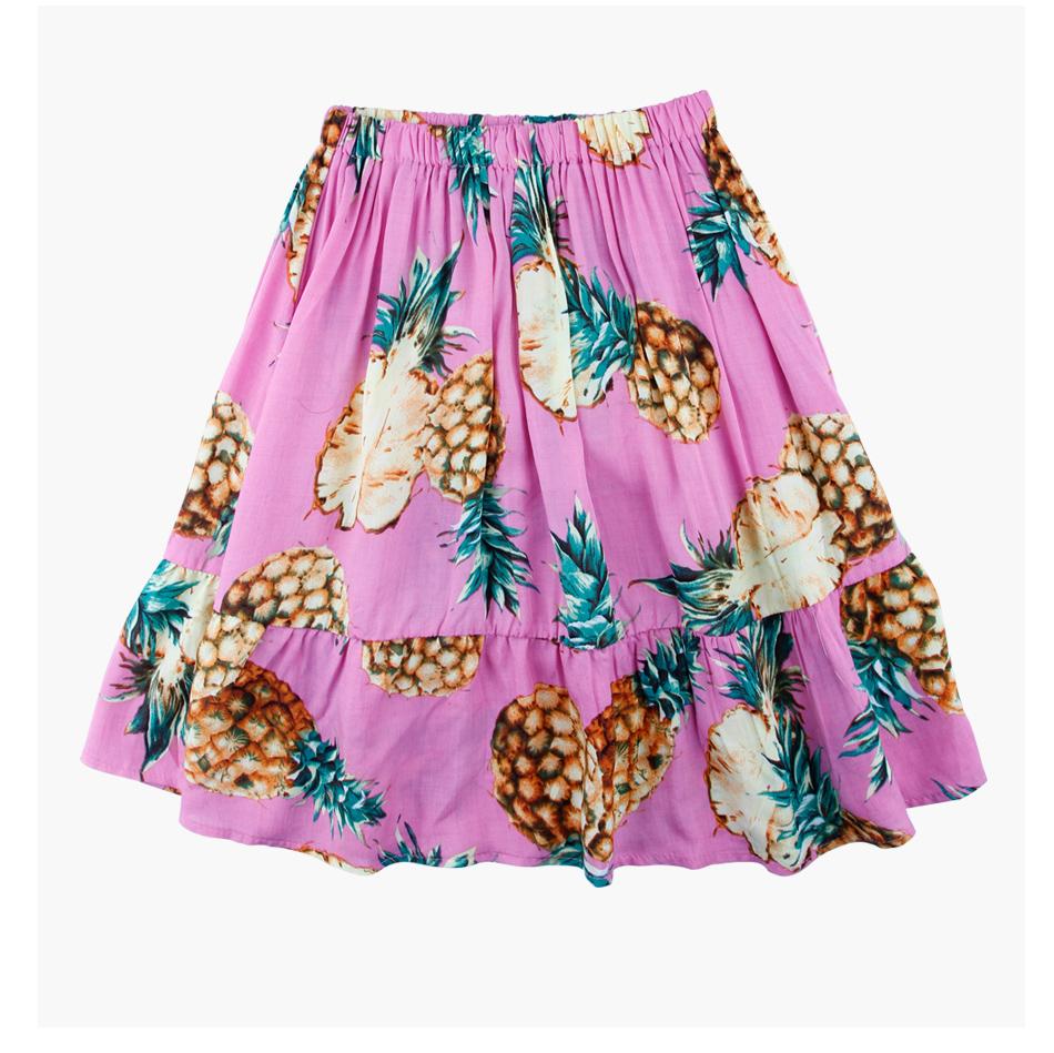 HTB1xDPGg XYBeNkHFrdq6AiuVXa0 - 2 PCS/Set Summer Baby Girls Clothing Set Pineapple Print Off Shoulder Top+Skirt Ruffle Girls Dress Beach Sundress Robe Fille