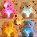 75 см Медведь Красочный Светящийся Чучела Плюшевые Игрушки Медведя Подушка Мигает Светодиодные Светящиеся Медведь Игрушки Куклы Ребенок Подарок На День Рождения для дети