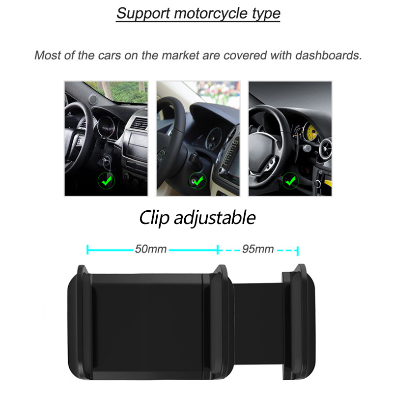 Image 5 - Dashboard Car Phone Holder GPS Navigation Support Smartphone Mount Stand Clip On Dashboard Mobile Phones Holder Auto Accessories-in Universal Car Bracket from Automobiles & Motorcycles