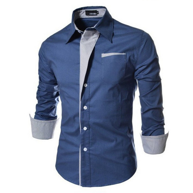 NEW Camisa Masculina Slim Fashion Men Shirt 2018 New Devin Du Brand Casual Long-Sleeved Chemise Homme Plaid Camisa Masculina Big