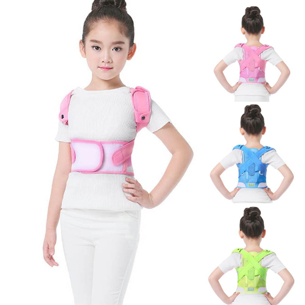 Posture Corrector Breathable durable comfortable Back Shoulder Lumbar Waist Supporting Correction Straighten Upper Children JD19Braces & Supports   -